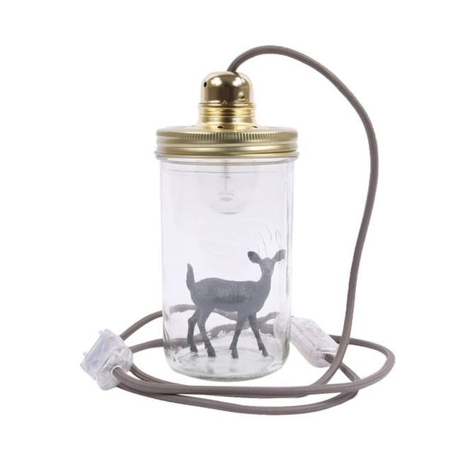lampe-bocal-a-poser-bambi-dark-grey