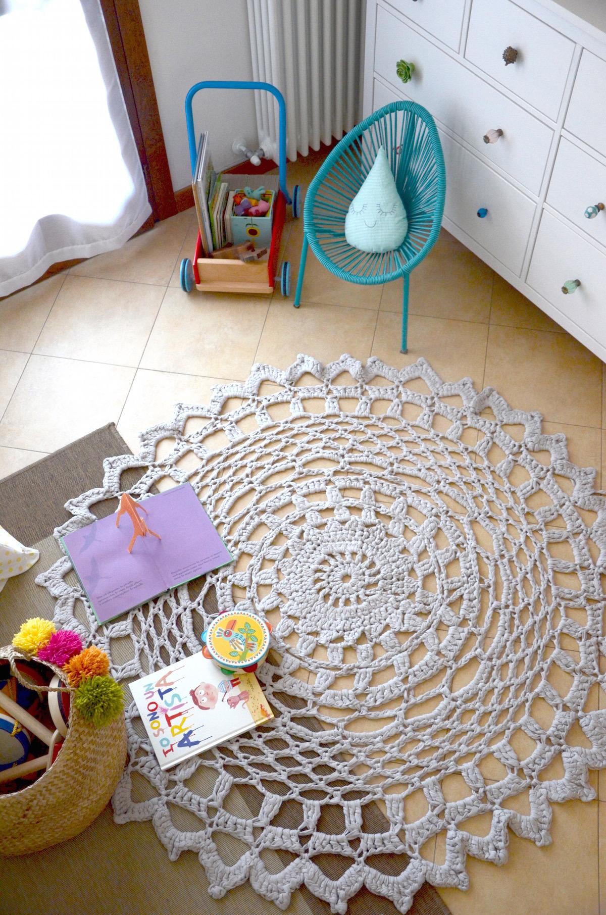 Tutorial per realizzare un tappeto crochet con fettuccia