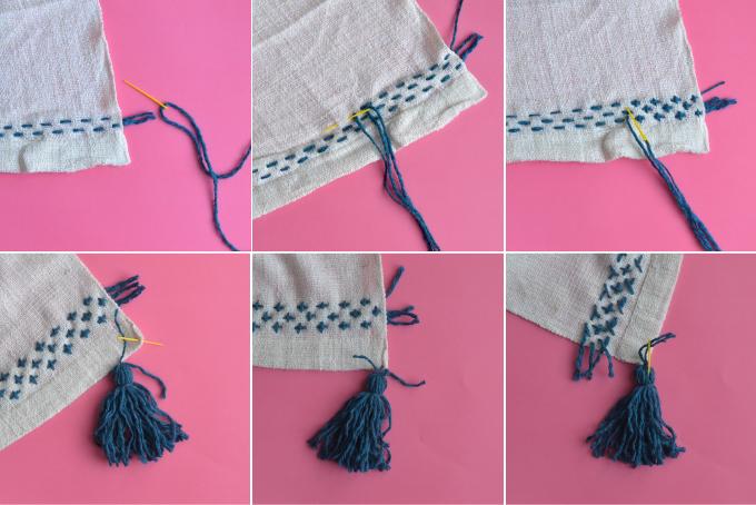 coperta etnica ricamo step-by-step
