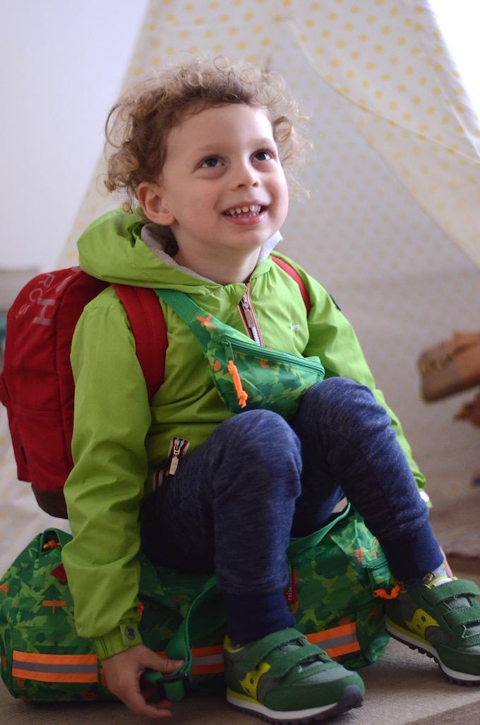 preparare la valigia per i bambini