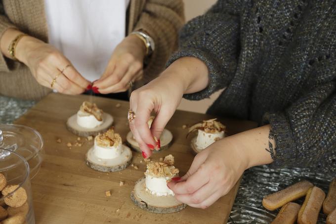 cheesecake amaretti e pere