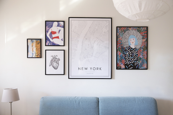 wall gallery con Desenio