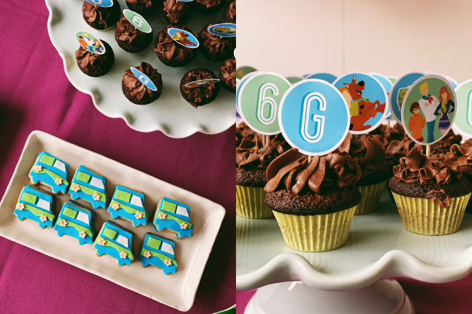 scooby doo cupcakes e mystery machine biscotti